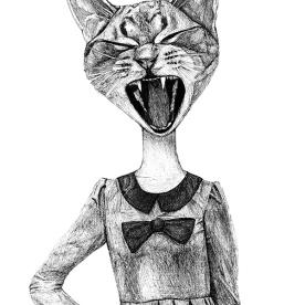 Half Lady Half Cat
