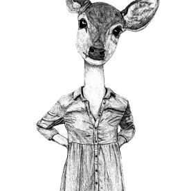 Half Lady Half Deer