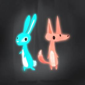 Ghost Bunny and Ghost Fox
