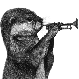 Otter with a Trumpet