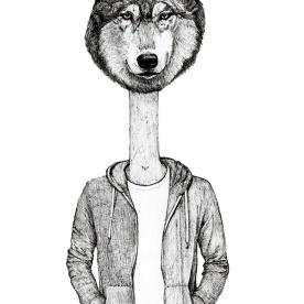 Half dude Half Wolf