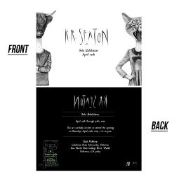 Postcard Design for my art show