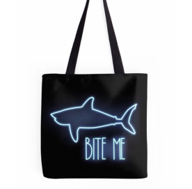 Bite Me Tote Bag Design