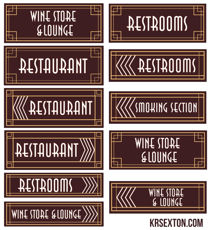 Designs of the Signage