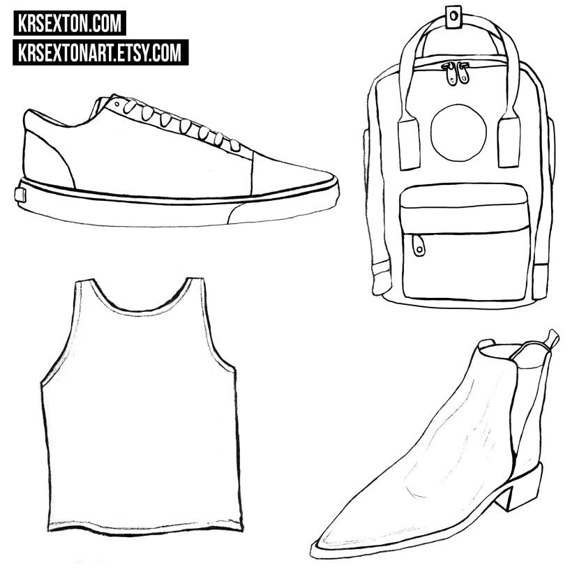 Fashion1krsextonartLINEART