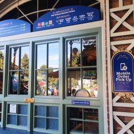 Mobile Order Pick-Up Signage for Royal St. Veranda in Disneyland