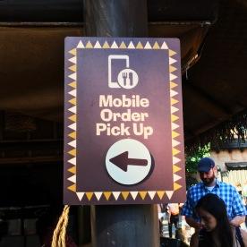 Mobile Order Signage at the Tiki Juice Bar in Disneyland