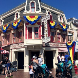 Worked with our Art Director to choose colors and fabrics for bunting and tie-downs for Disneyland's Main Street. Assisted in modifying the layout of the bunting locations.